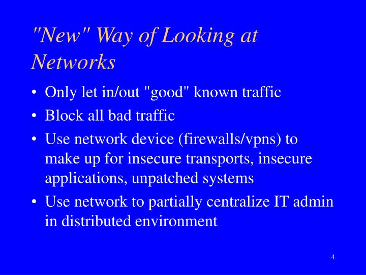 """New"" Way of Looking at Networks"