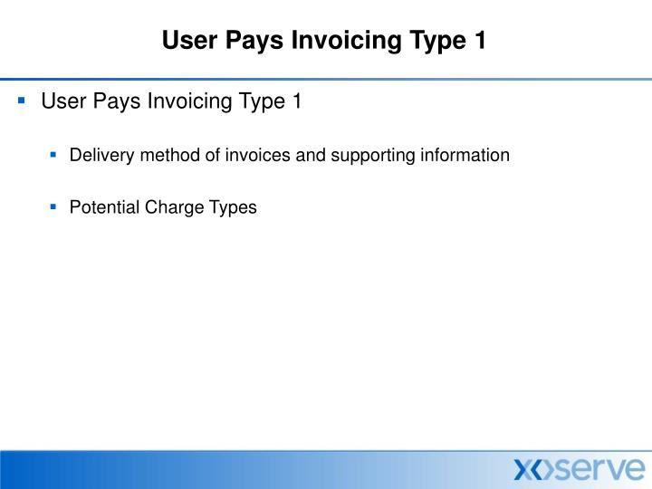 User pays invoicing type 11