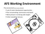 afs working environment