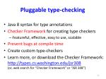 pluggable type checking