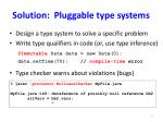 solution pluggable type systems