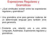 expresiones regulares y gram ticas