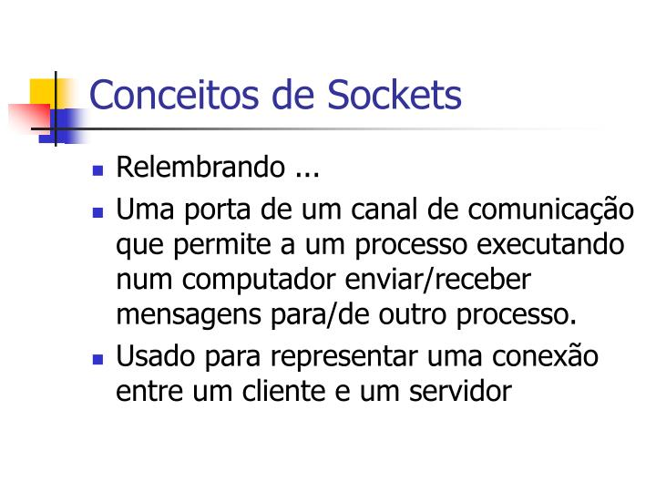Conceitos de sockets