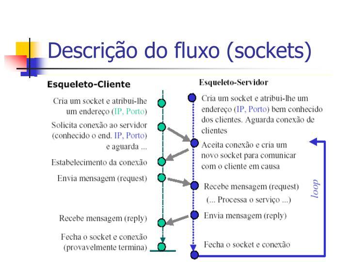 Descrição do fluxo (sockets)