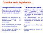 cambios en la legislaci n