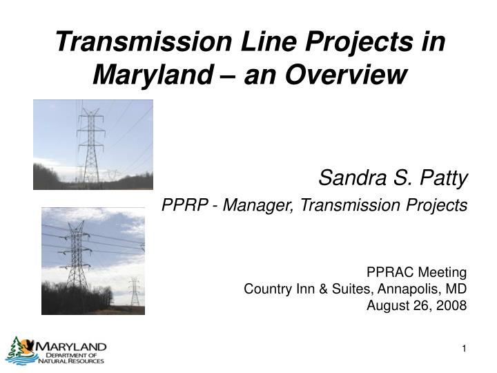 transmission line projects in maryland an overview n.