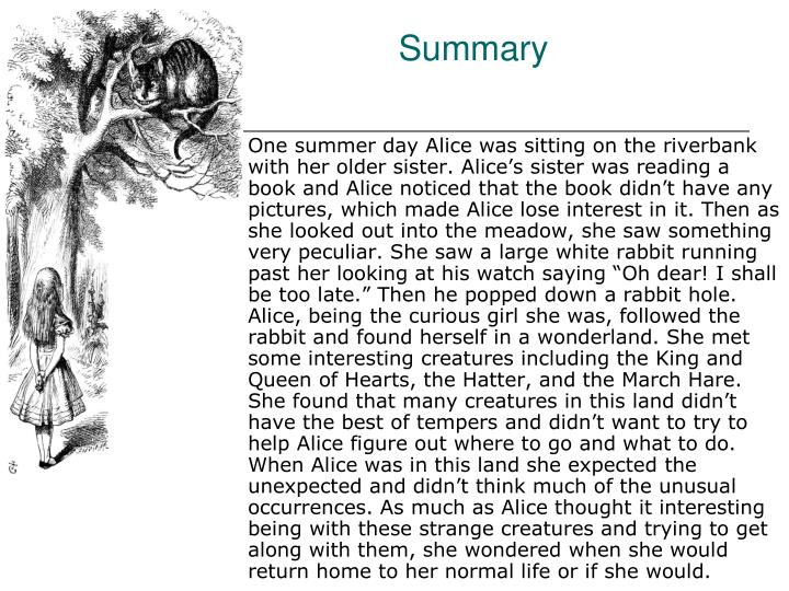 Very short summary of alice in wonderland-2840