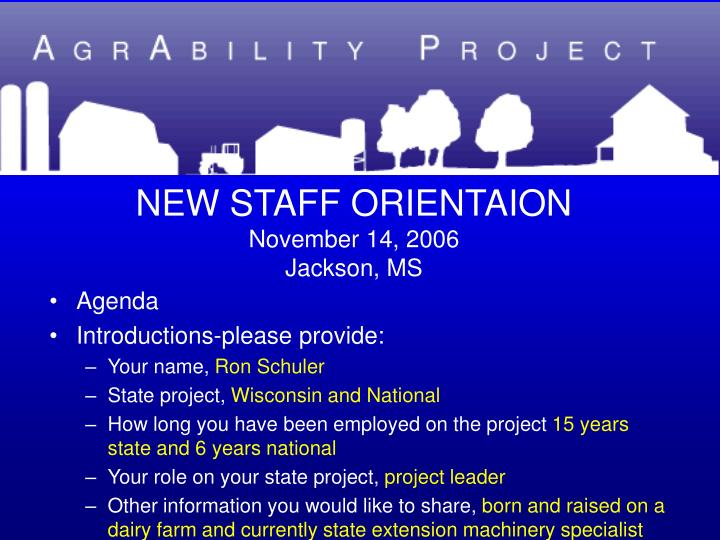 New staff orientaion november 14 2006 jackson ms1