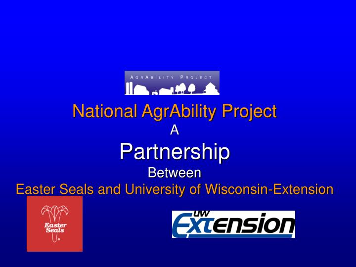 National AgrAbility Project