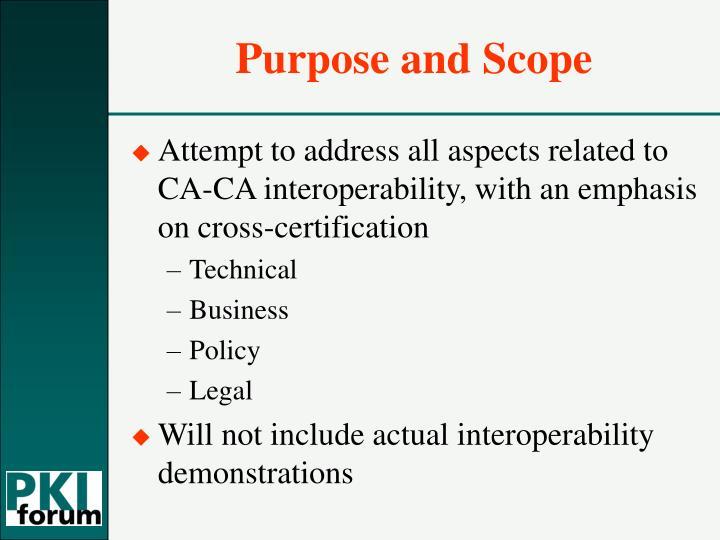 Purpose and scope