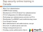 sap security online training in canada