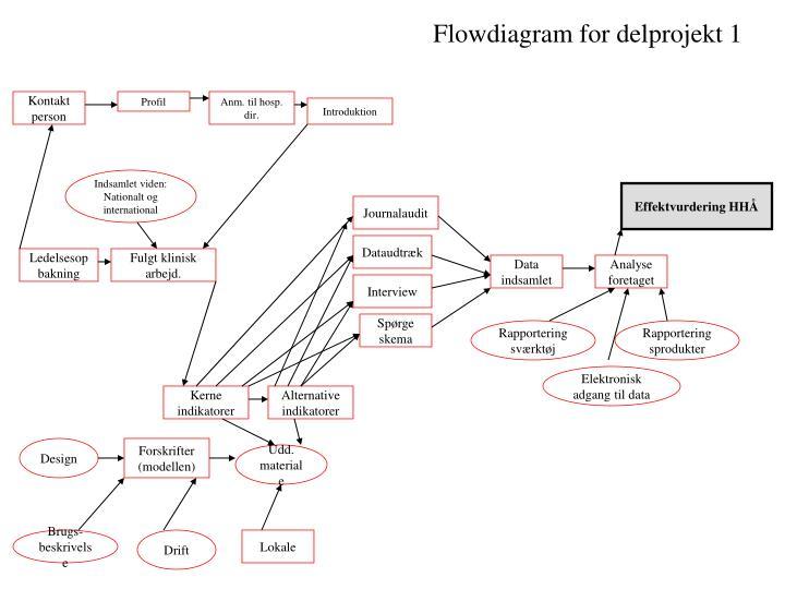 Flowdiagram for delprojekt 1