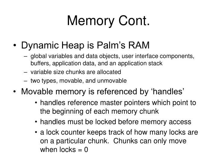 Memory Cont.