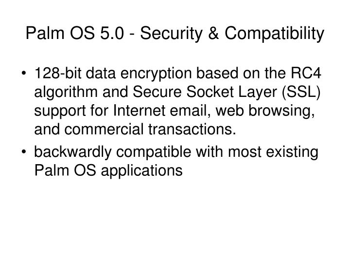 Palm OS 5.0 - Security & Compatibility