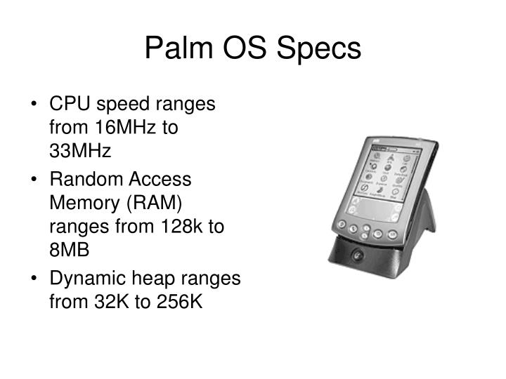 Palm OS Specs