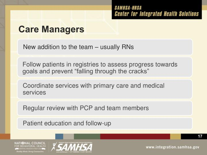 """Follow patients in registries to assess progress towards goals and prevent """"falling through the cracks"""""""