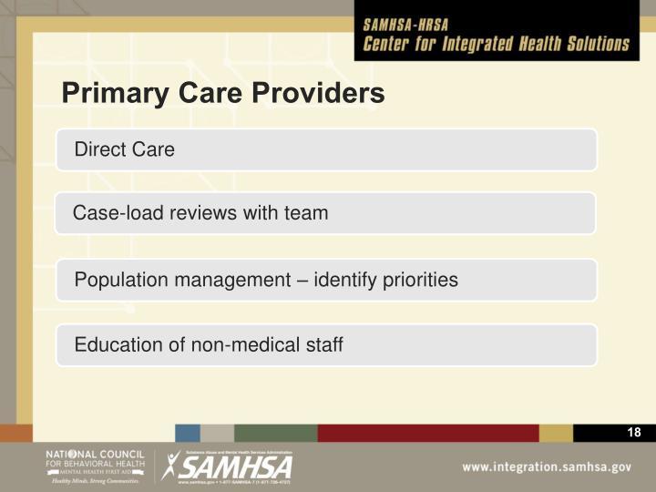Primary Care Providers