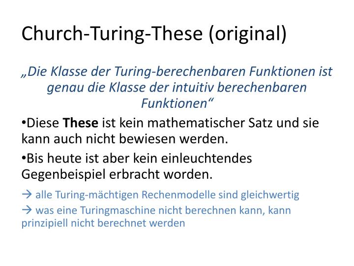 Church-Turing-These (original)