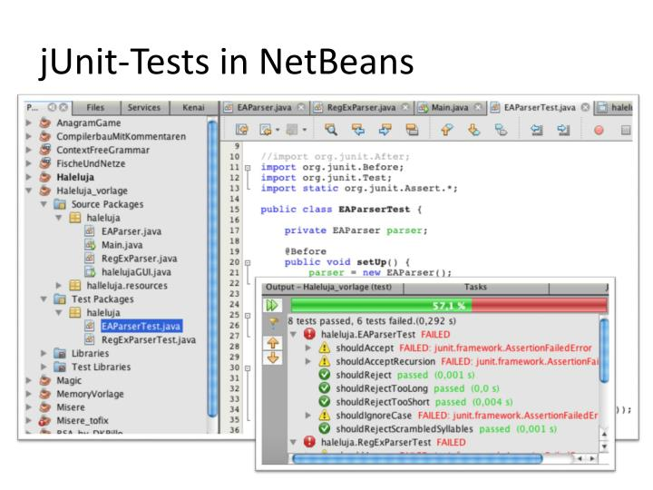 jUnit-Tests in NetBeans