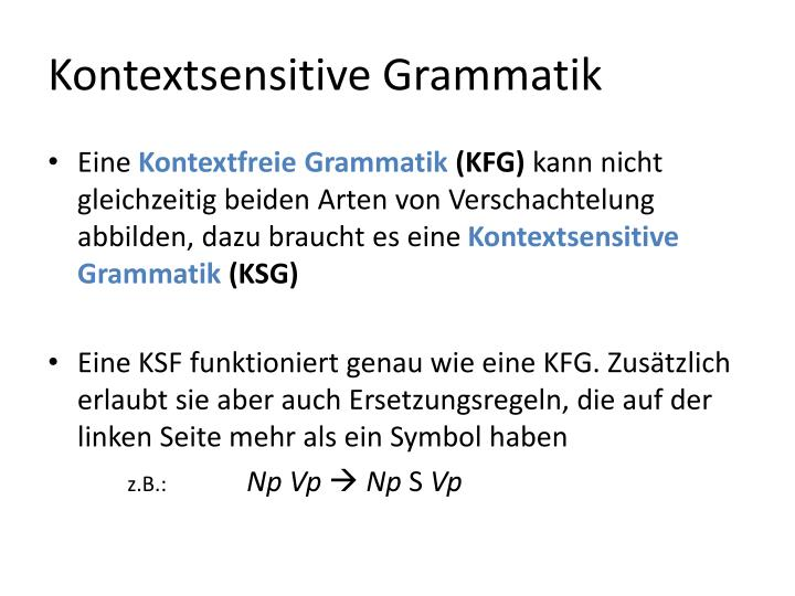 Kontextsensitive Grammatik