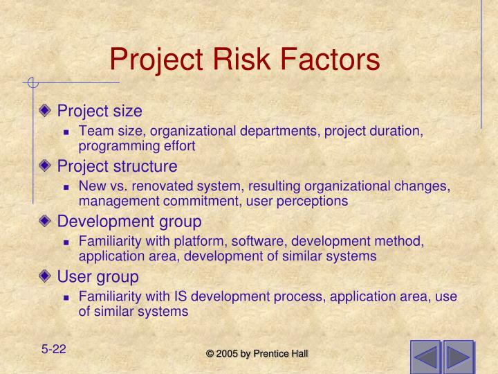 Project Risk Factors