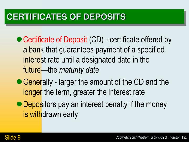 Ppt Deposits In Banks Powerpoint Presentation Id5672907