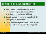 deposit account documents