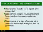 flow of deposits the economic engine