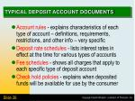 typical deposit account documents