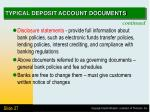 typical deposit account documents1