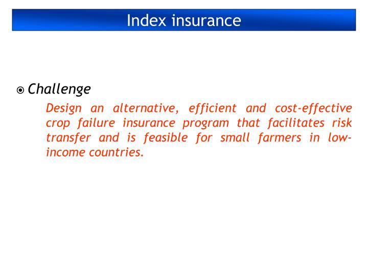 Index insurance