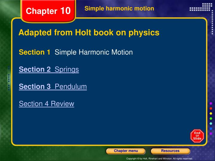 adapted from holt book on physics n.