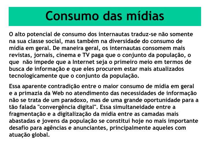 Consumo das mídias