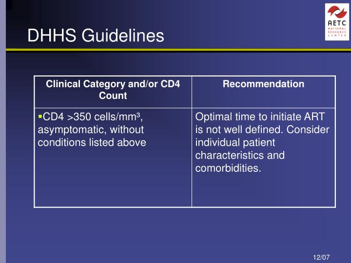 DHHS Guidelines