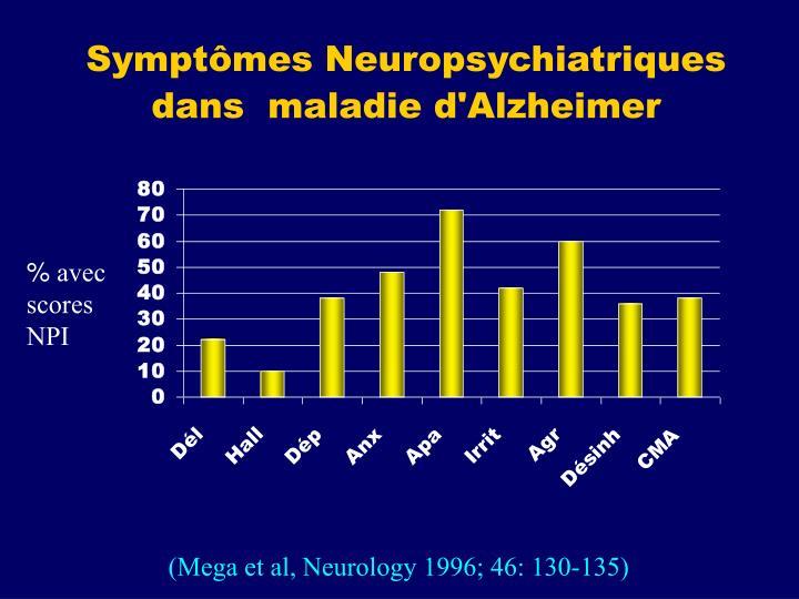 Symptômes Neuropsychiatriques dans  maladie d'Alzheimer