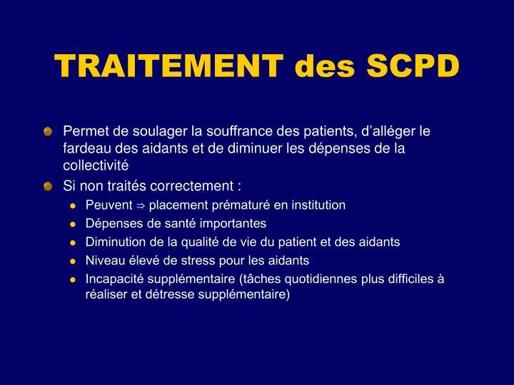 TRAITEMENT des SCPD