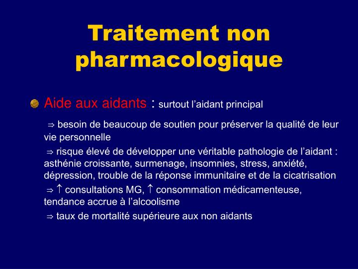 Traitement non pharmacologique