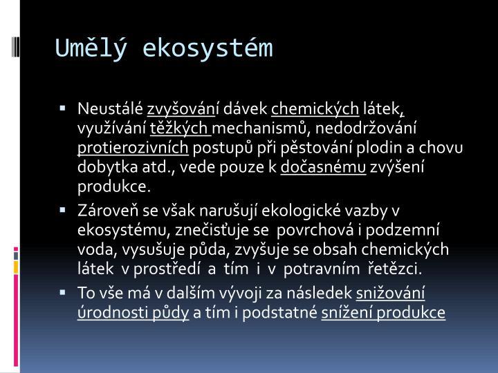 Umělý ekosystém