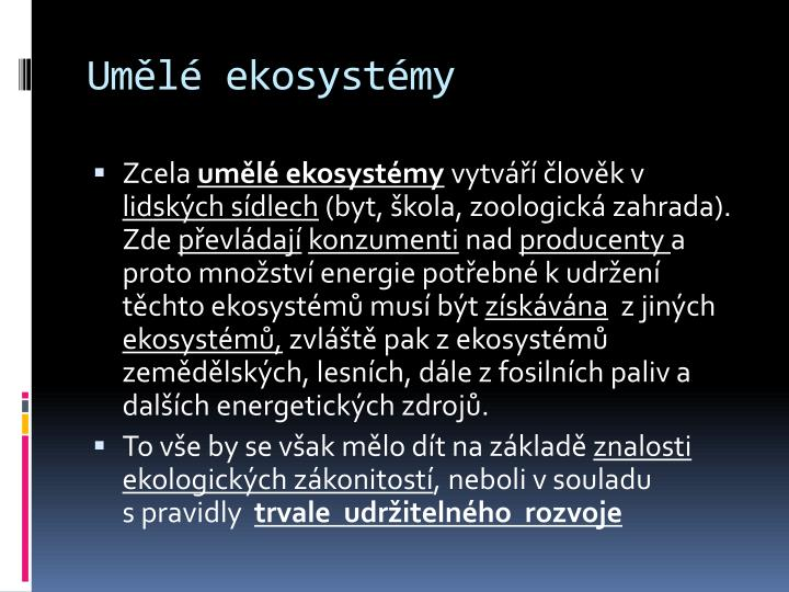 Umělé ekosystémy