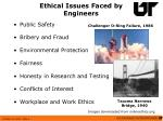 ethical issues faced by engineers