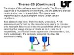 therac 25 continued