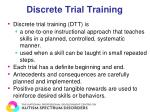 discrete trial training