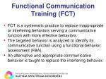 functional communication training fct