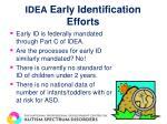 idea early identification efforts
