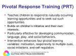 pivotal response training prt