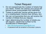 ticket request