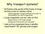 why transport systems