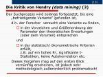 die kritik von hendry data mining 3
