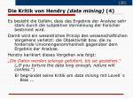 die kritik von hendry data mining 4