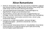 aliran romantisme